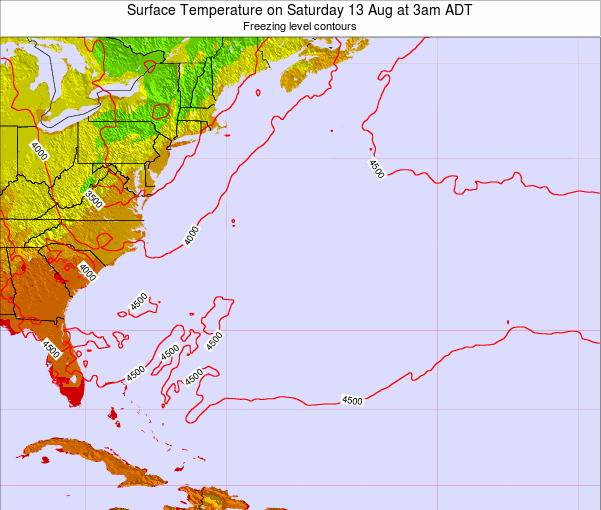 Bermuda Surface Temperature on Friday 24 May at 3am ADT