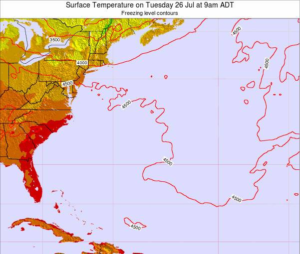 Bermuda Surface Temperature on Sunday 26 May at 9pm ADT