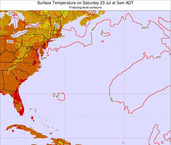 Bermuda Surface Temperature on Tuesday 28 May at 9am ADT