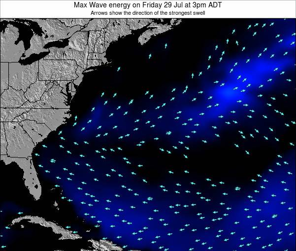 Bermuda Max Wave energy on Friday 14 Mar at 3am ADT
