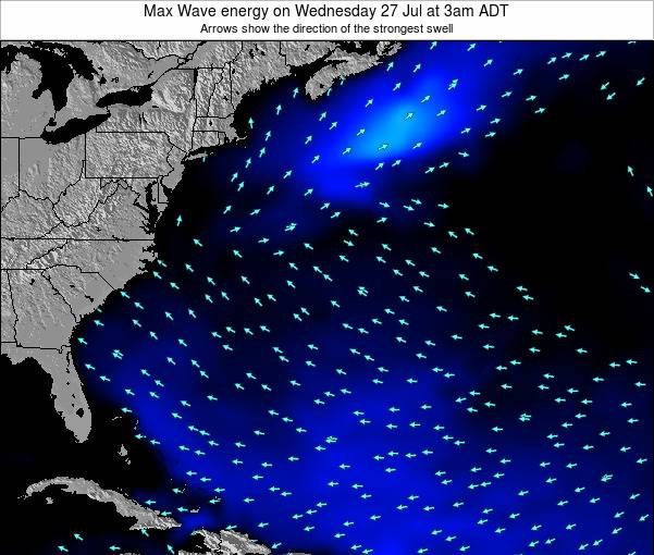 Bermuda Max Wave energy on Tuesday 04 Oct at 9am ADT