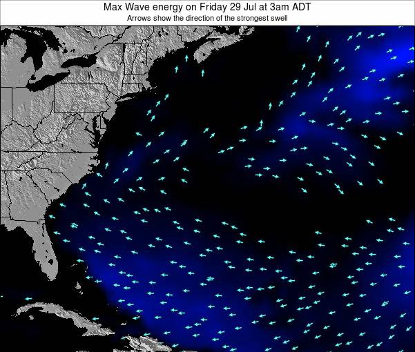 Bermuda Max Wave energy on Sunday 03 Aug at 9am ADT