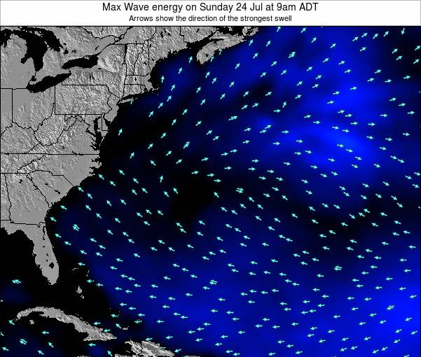 Bermuda Max Wave energy on Wednesday 18 Dec at 2am AST