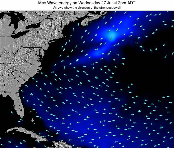 Bermuda Max Wave energy on Friday 28 Nov at 8am AST