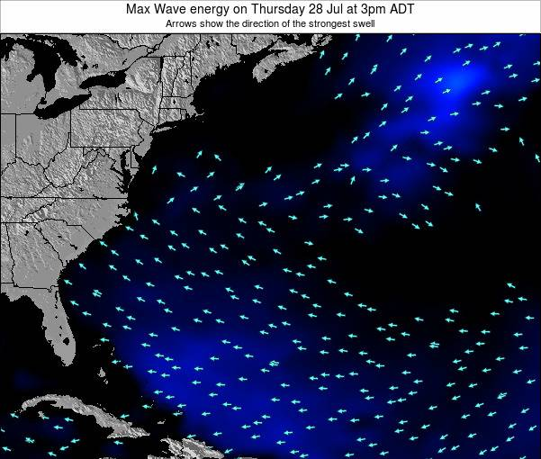 Bermuda Max Wave energy on Friday 05 May at 9pm ADT