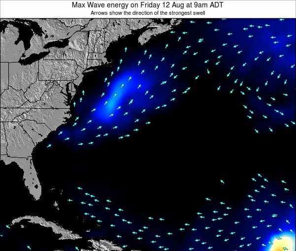 Bermuda Max Wave energy on Saturday 01 Apr at 9pm ADT