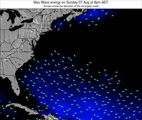 Bermuda Max Wave energy on Wednesday 23 Jan at 8pm AST map