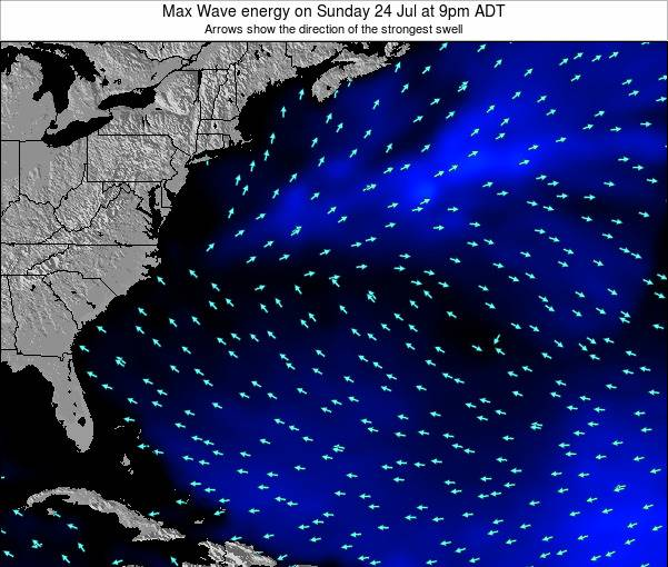Bermuda Max Wave energy on Monday 08 Sep at 9pm ADT