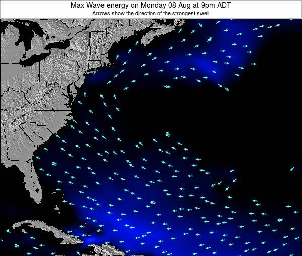 Bermuda Max Wave energy on Friday 06 Dec at 8am AST
