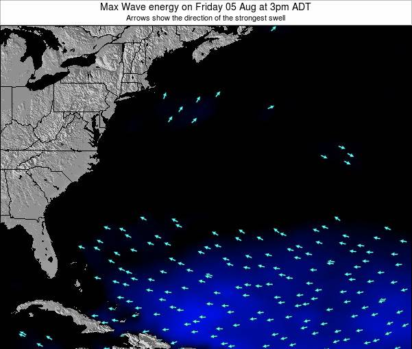Bermuda Max Wave energy on Friday 25 Apr at 3pm ADT