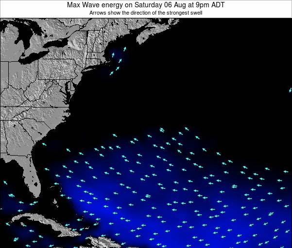 Bermuda Max Wave energy on Sunday 27 Jul at 3pm ADT
