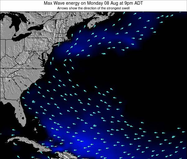 Bermuda Max Wave energy on Sunday 27 Jan at 8pm AST map