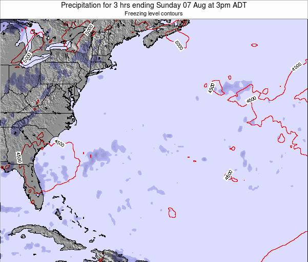 Bermuda Precipitation for 3 hrs ending Wednesday 22 May at 3pm ADT