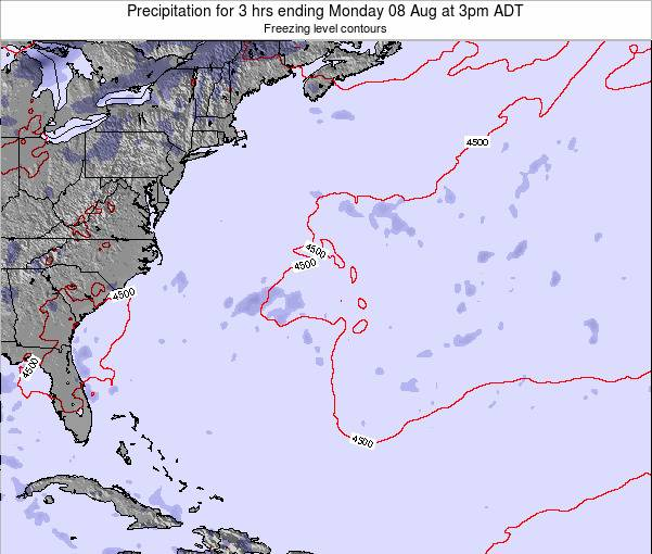 Bermuda Precipitation for 3 hrs ending Thursday 05 Dec at 2am AST map