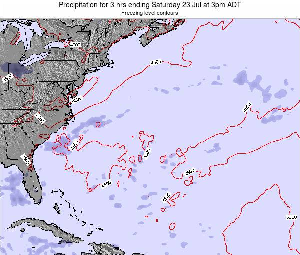 Bermuda Precipitation for 3 hrs ending Thursday 24 Jul at 9pm ADT map
