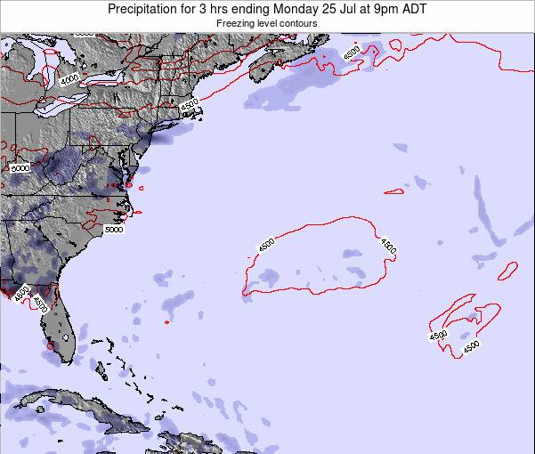 Bermuda Precipitation for 3 hrs ending Monday 29 Aug at 9pm ADT