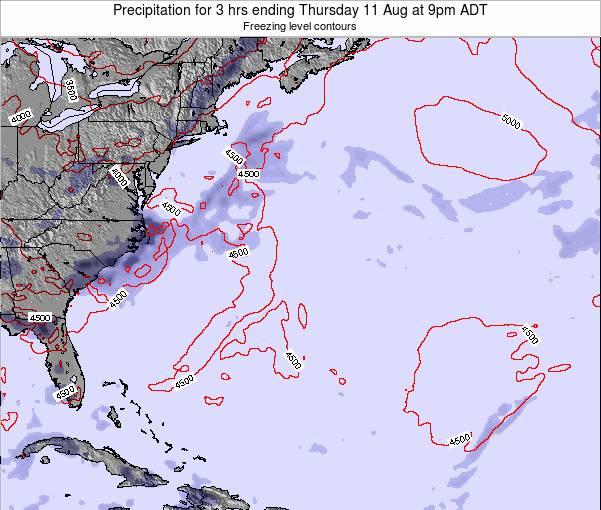 Bermuda Precipitation for 3 hrs ending Wednesday 30 Apr at 9am ADT