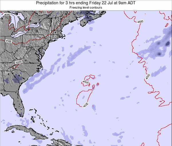Bermuda Precipitation for 3 hrs ending Friday 14 Mar at 8pm AST