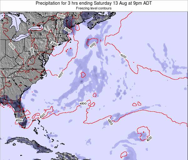 Bermuda Precipitation for 3 hrs ending Friday 28 Nov at 8pm AST