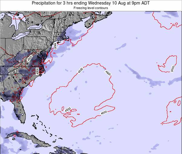 Bermuda Precipitation for 3 hrs ending Sunday 07 Sep at 9am ADT