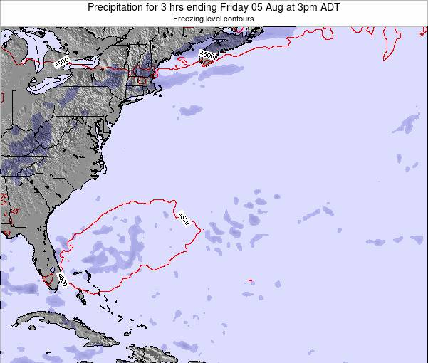 Bermuda Precipitation for 3 hrs ending Thursday 31 Jul at 9am ADT