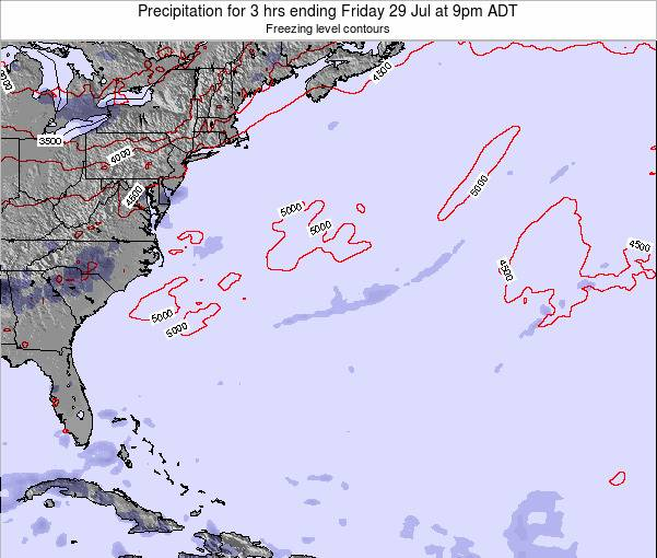 Bermuda Precipitation for 3 hrs ending Monday 08 Sep at 9am ADT