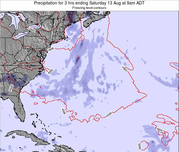 Bermuda Precipitation for 3 hrs ending Monday 29 Dec at 2am AST