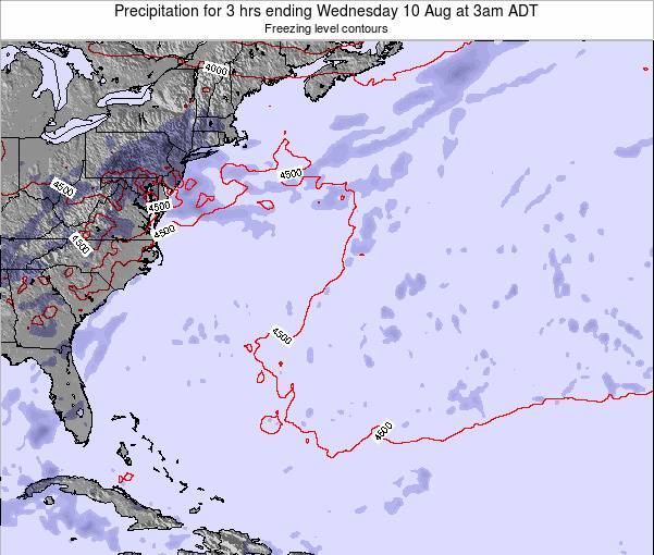 Bermuda Precipitation for 3 hrs ending Wednesday 18 Dec at 2pm AST