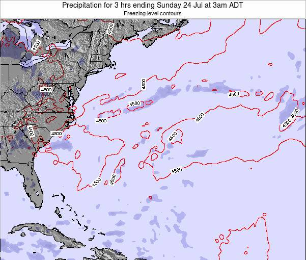 Bermuda Precipitation for 3 hrs ending Friday 30 Sep at 3am ADT