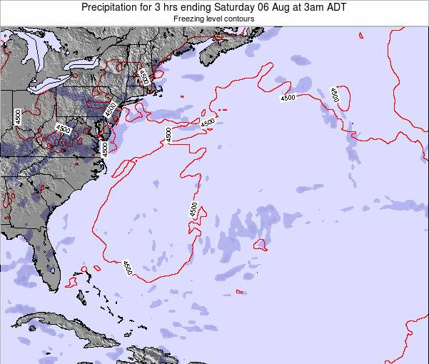 Bermuda Precipitation for 3 hrs ending Sunday 04 Dec at 2am AST