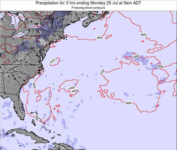 Bermuda Precipitation for 3 hrs ending Friday 06 Dec at 2am AST
