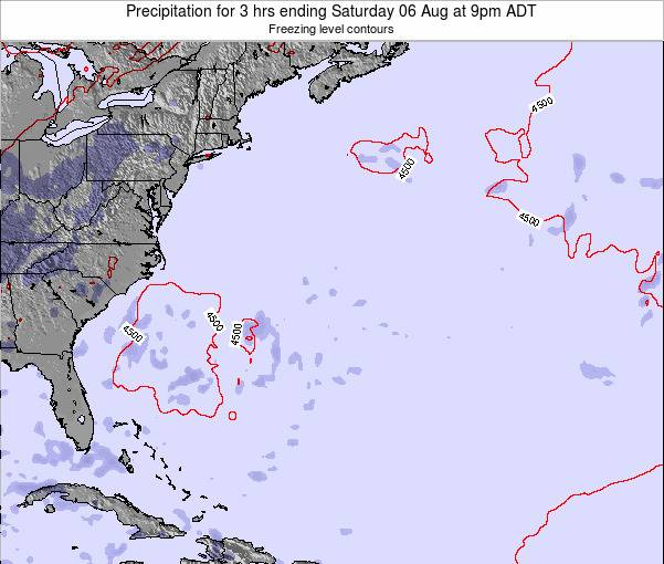 Bermuda Precipitation for 3 hrs ending Wednesday 04 Dec at 8pm AST