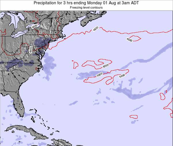 Bermuda Precipitation for 3 hrs ending Tuesday 29 Jul at 3pm ADT