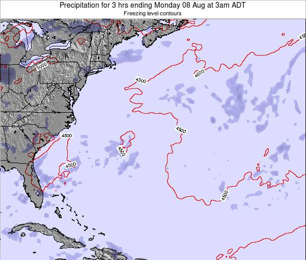 Bermuda Precipitation for 3 hrs ending Friday 18 Apr at 3am ADT