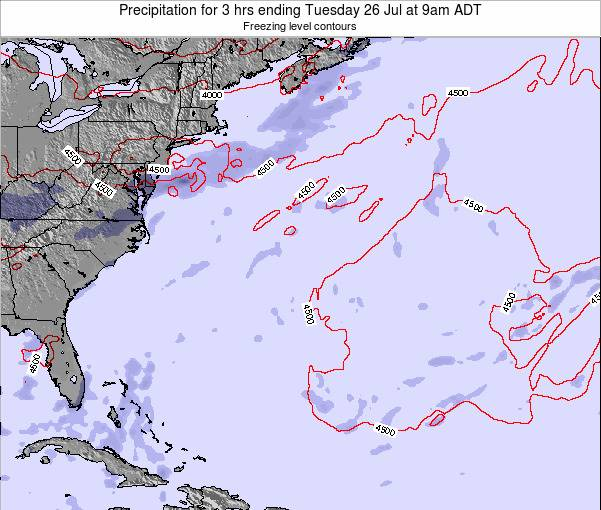 Bermuda Precipitation for 3 hrs ending Sunday 26 May at 3am ADT