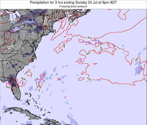 Bermuda Precipitation for 3 hrs ending Sunday 03 Aug at 3am ADT
