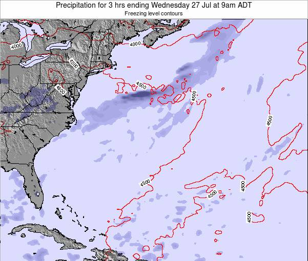Bermuda Precipitation for 3 hrs ending Thursday 23 May at 3am ADT