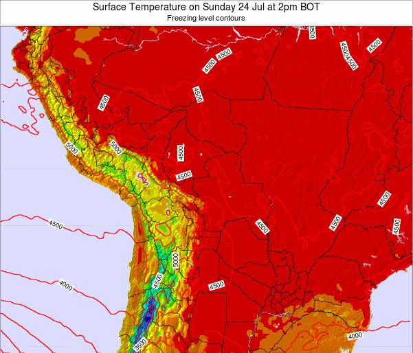 Paraguay Surface Temperature on Friday 31 May at 2am BOT map