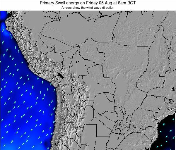 Bolivia Primary Swell energy on Monday 22 Oct at 8am BOT map