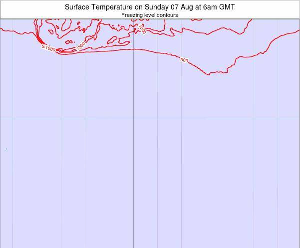 Bouvet Island Surface Temperature on Saturday 25 May at 12am GMT map