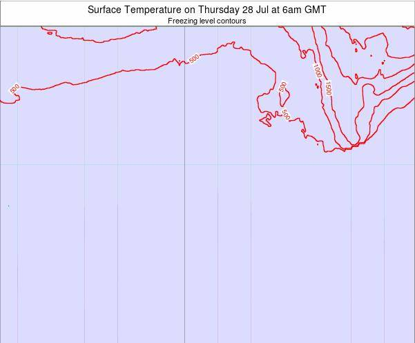 Bouvet Island Surface Temperature on Friday 31 May at 6pm GMT map