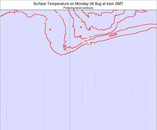 Bouvet Island Surface Temperature on Saturday 25 May at 6am GMT map