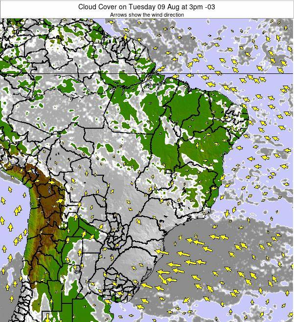 Brazil Cloud Cover on Monday 16 Dec at 4am BRST