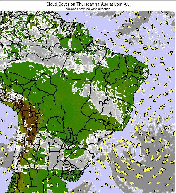 Brazil Cloud Cover on Thursday 30 May at 9am BRT