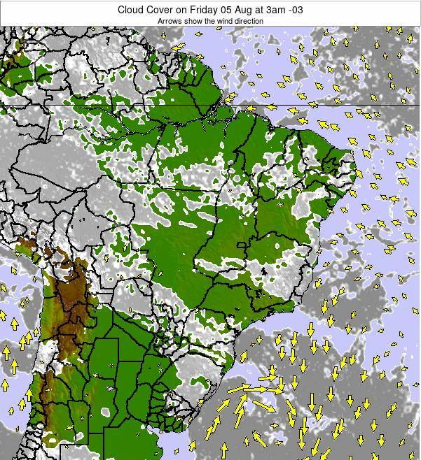 Brazil Cloud Cover on Saturday 18 May at 3pm BRT