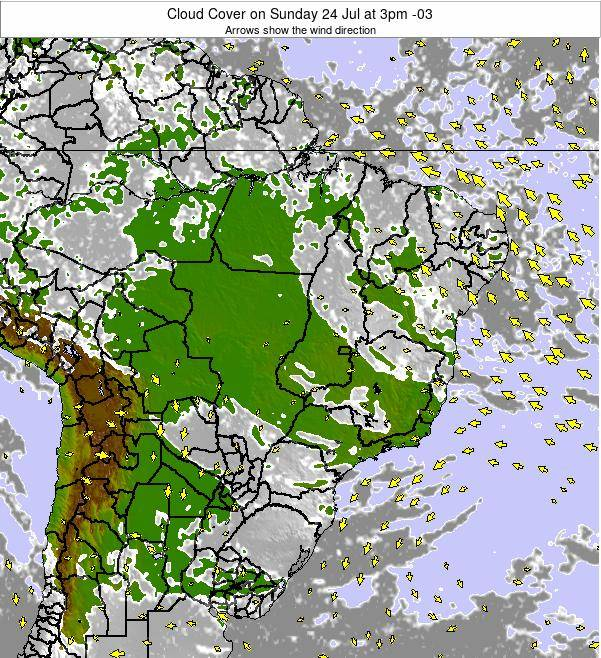Brazil Cloud Cover on Friday 24 May at 3am BRT