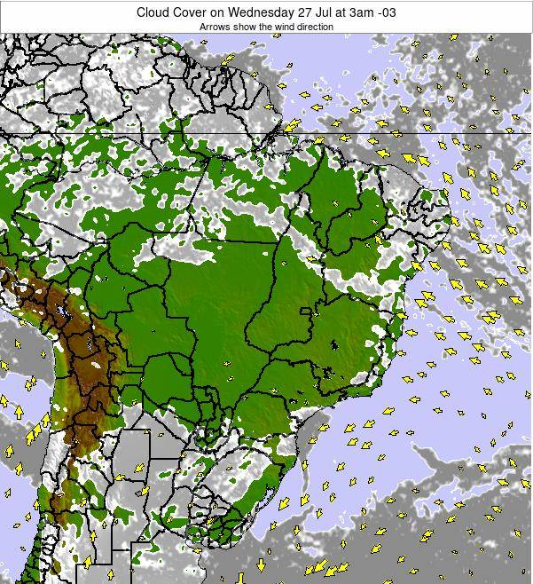 Brazil Cloud Cover on Friday 24 May at 9am BRT