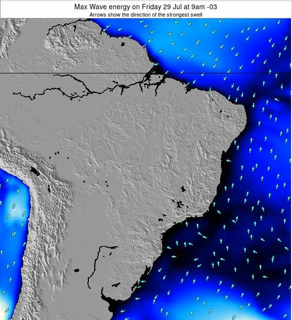 Brazil Max Wave energy on Monday 23 Dec at 10pm BRST