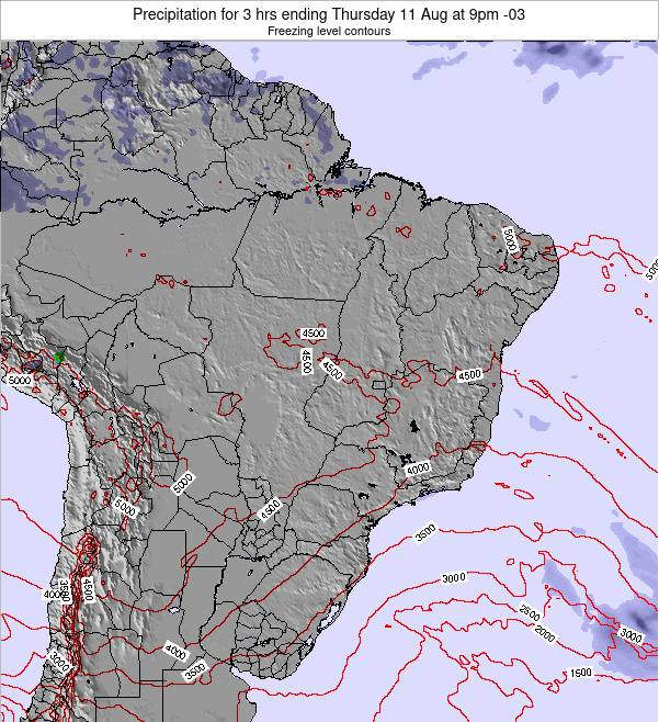 Brazil Precipitation for 3 hrs ending Thursday 23 May at 9am BRT map