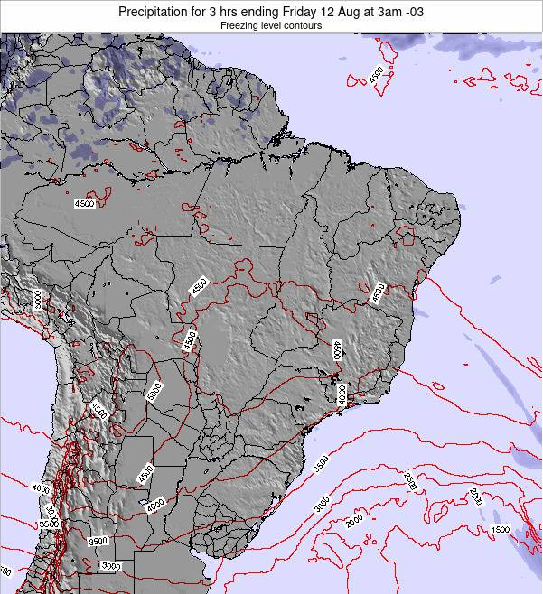 Brazil Precipitation for 3 hrs ending Saturday 22 Jun at 9pm BRT